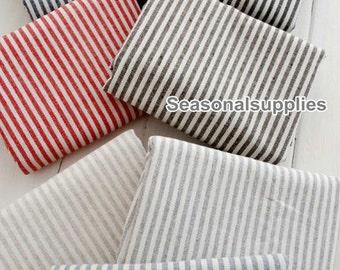 Yarn-dyed,Cotton Linen Fabric for craft, 5mm Stripe linen fabric, diy fabric,garment accessory 1/2 yard (C194Yarn-dyed)