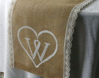 burlap wedding table runners,  burlap and lace table runners