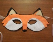 Hand Stitched Felt Fox Mask