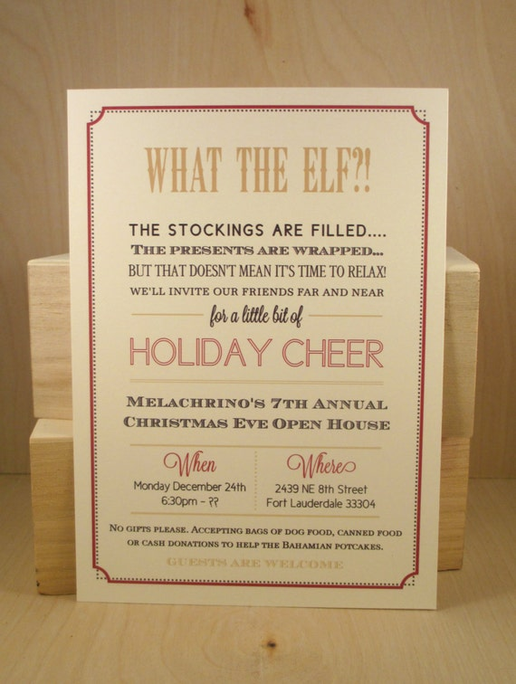 Funny Christmas Invitation as great invitations layout