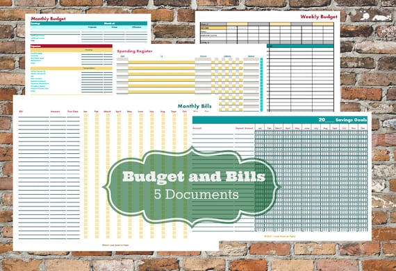 SALE!!! Budget and Bills Personal Finance Kit  [Printable Planner] | 6 Documents INSTANT DOWNLOAD