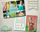 Graduation Announcement PHOTOSHOP TEMPLATE -  Senior Graduation 33