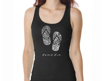 Women's Tank Top - Created using the words Beach Bum
