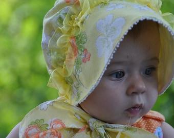 Bonnet Yellow Little Bo Peep