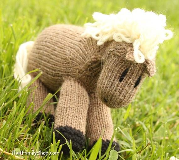 Cookies: Stuffed Animal Waldorf Pony Baby Toy Horse