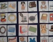 Rhyming Match Felt Board Set or Laminated Flash, Your Choice! - Preschool / Kindergarten, Kids Educational Toy - Montessori Learning
