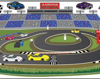 Race Track Wall Mural