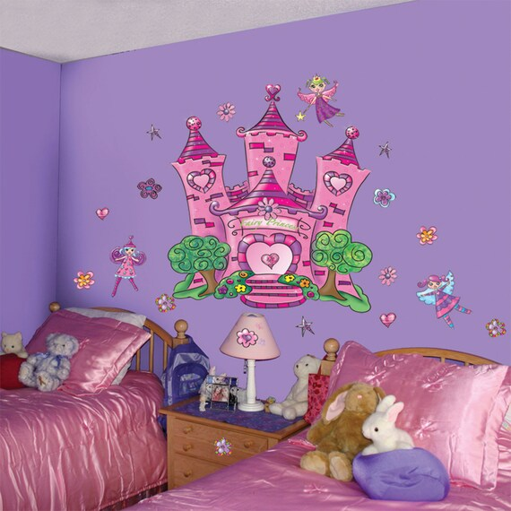 Fairy mural faerie wall decals for Fairy wall mural