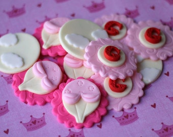 Fondant Cupcake Toppers - Hot Air Balloon - Perfect for Cupcakes, Cookies and Other Edibles