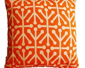 "CLEARANCE SALE!!!!  ONE Retro Orange Pillow Cover - 18"" X 18"" Pillow Cover"
