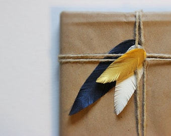 Set of 45- Hand Cut Paper Feathers - Any Colors