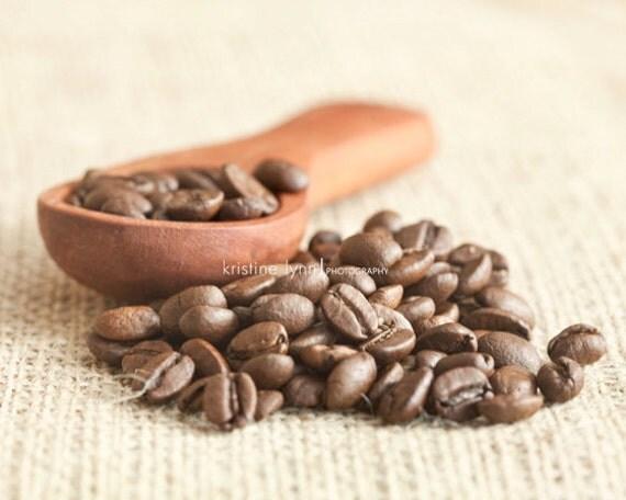still life photography, coffee print, barista image, coffee beans