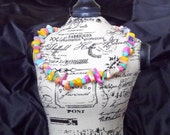 Puka Shell Necklace with Pastel Candy Colors