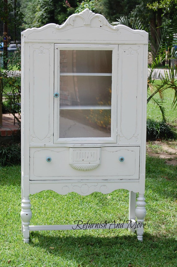 Antique Shabby Chic China Cabinet By Refurnish On Etsy