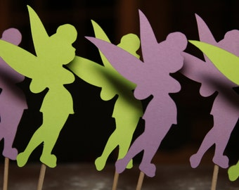 Tinkerbell Silhouette Cupcake Toppers (12)