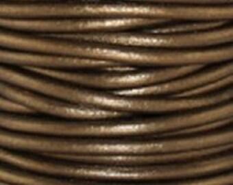 1mm Leather Cord - #52 Metallic Kansa - 3 yards - 9 feet