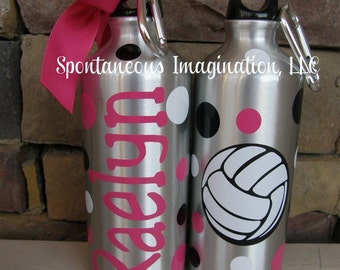 Volleyball Water Bottle, Volleyball Gifts, Volleyball Team Gifts, Banquet Gifts, Sports Bottle, Coach Gift, Personalized Water Bottle