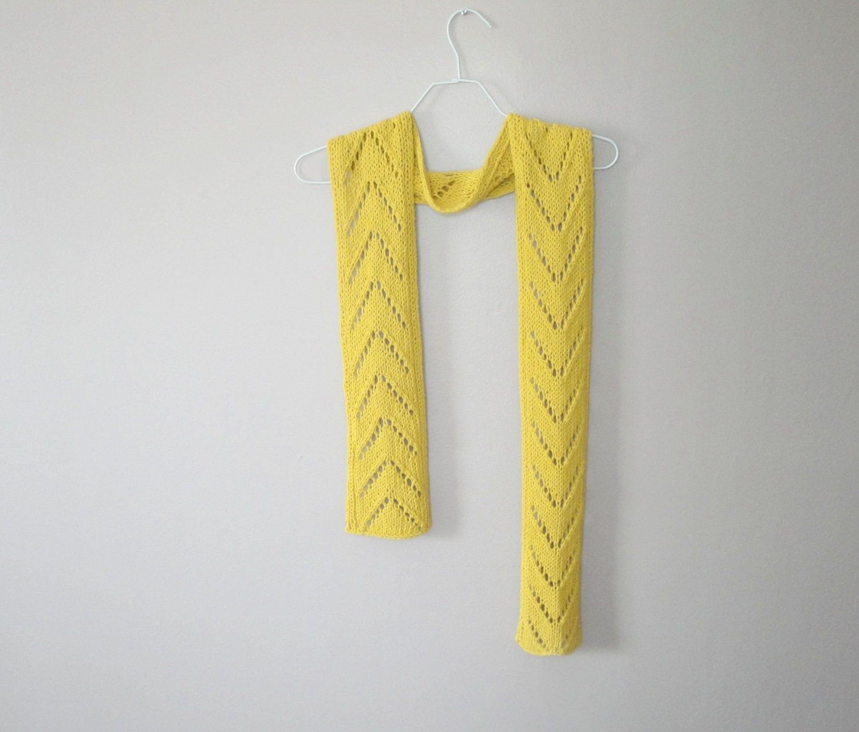 Chevron Lace Scarf PDF Knitting Pattern Easy Knit Pattern