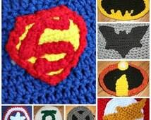 Super hero cape & hat PDF crochet pattern-INSTANT DOWNLOAD
