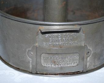 Vintage Swans Down Metal Bundt Pan