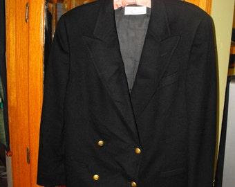 Black Cashmere Jacket by Debra Columbo M