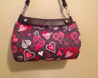 Suite purse cover Victorian hearts suite purse cover Thirty-one Handmade