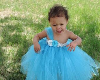 Bright blue tutu dress