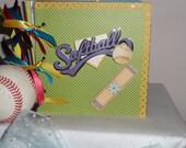 I Love Softball Keepsake scrapbook