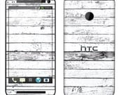 HTC One Case Decal Skin Cover - Unique Weathered Wood
