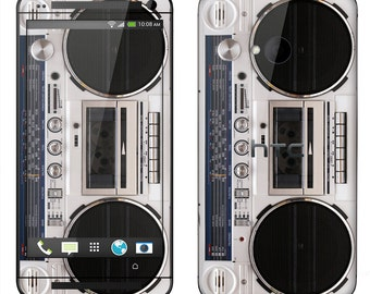HTC One M7 M8  Case Decal Skin Cover - Boombox