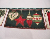 Christmas BUNTING with pockets for gifts 227cm long