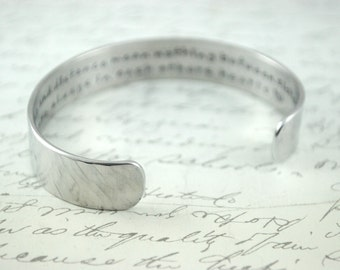 Godmothers are Special because they are Chosen Secret Message Hand Stamped Bracelet- Personalized Bracelet