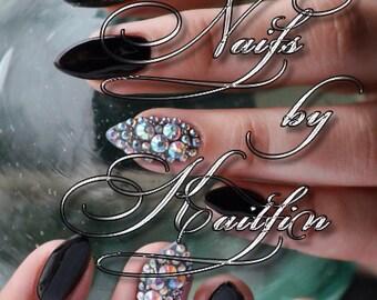 Smooth As Glass Stiletto Artificial Nail Art