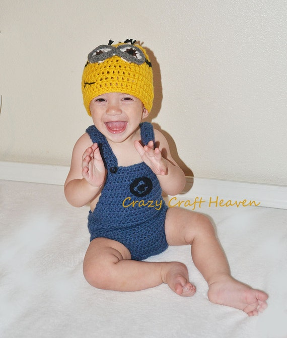 sc 1 st  Etsy & Items similar to Crochet Minion inspired hat Minion costume on Etsy