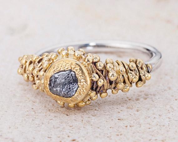 Diamond Ring Uncut Diamond Ring Solid Gold Ring Nature