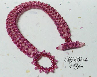 Flat Sprial Bracelet,Beadwoven Bracelet,Beaded Bracelet,Embellished Beaded Bracelet,Spiral Bracelet, Beading Tutorial,Seed Bead Bracelet