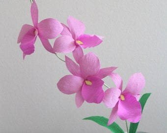 paper orchid crepe paper orchid cattleya orchid