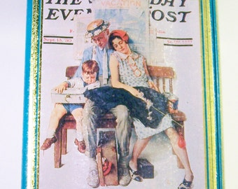 Saturday Evening Post tin with lid