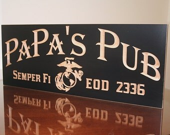 Military Sign, Military Gift Ideas, Military Retirement Sign, Veteran Gift Idea, Benchmark Custom Signs Maple MB