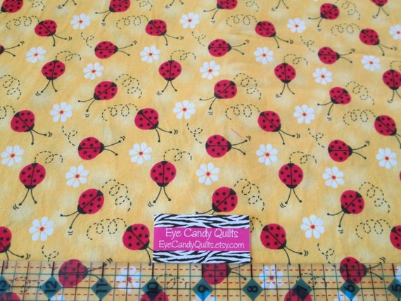 Ladybugs cotton fabric novelty fabric kids girls by for Kids novelty fabric