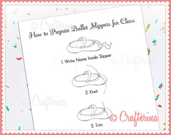 How to Prepare Ballet Slippers PDF Print & Coloring Page - Educational Activity - Dance