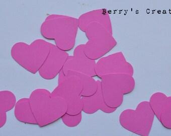Dark Pink Heart. Die Cut. Punch Out. Embellishment