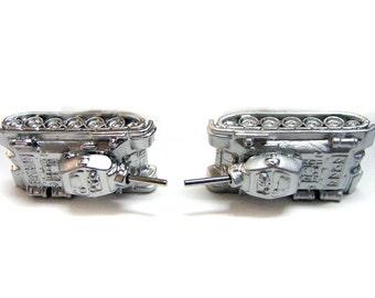Metal Tank Cufflinks
