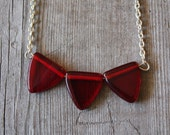 red flag lucite bunting necklace - firstfruitsdesign