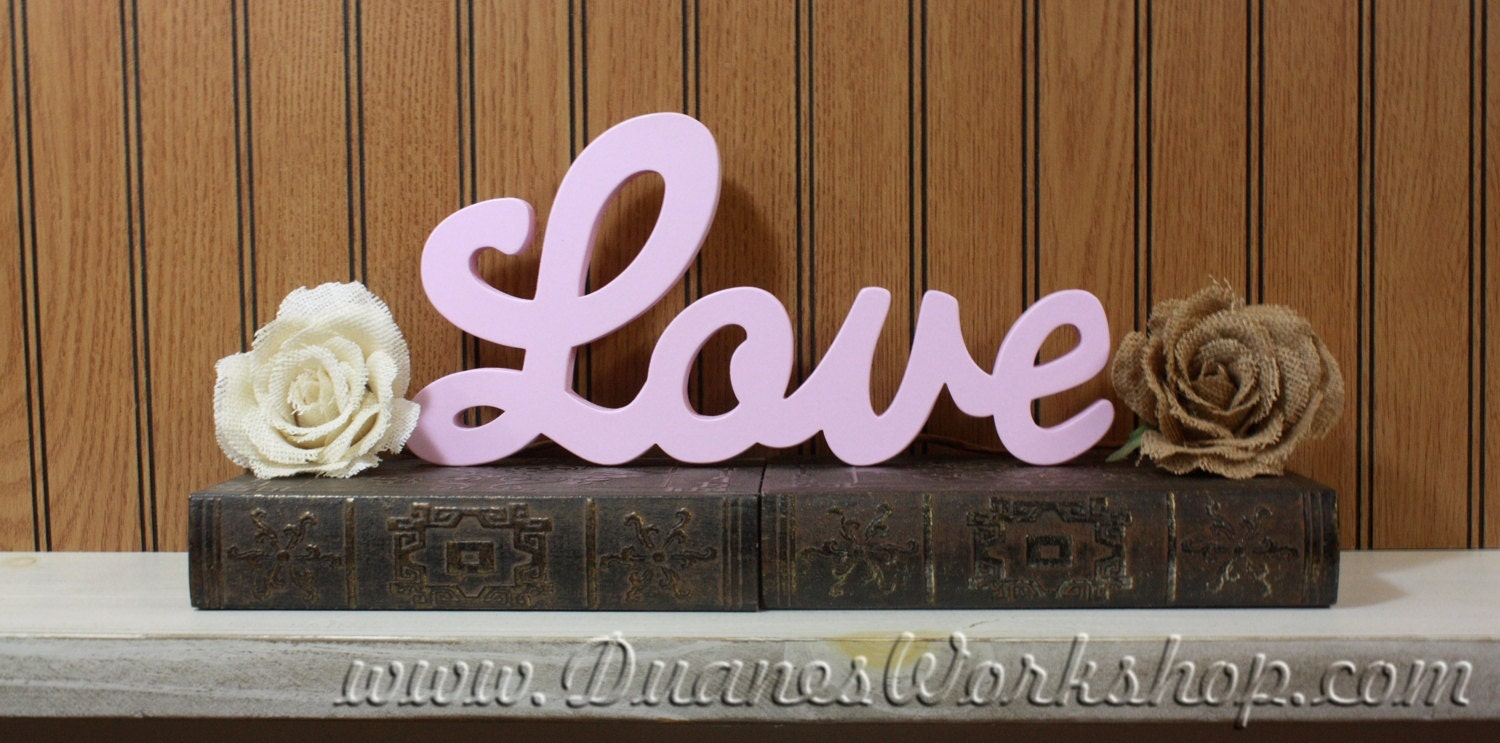 Love Sign Home Decor Wooden Sign Rustic Wooden Sign White Love