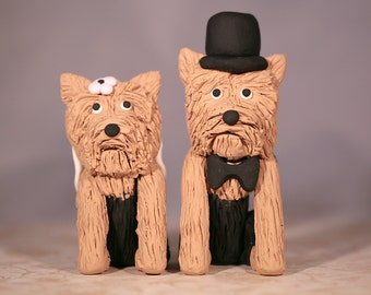 Yorkie Yorkshire Terrier Dog Wedding Cake Topper