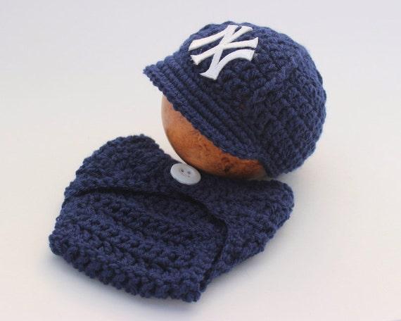 New York Yankees Newborn Baby Photography Prop Newsboy