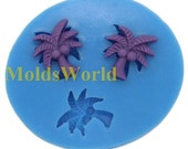 A442 Mini Coconut Palm CoCo Silicone Mold Silicon Mould For Polymer Clay Crafts Jewelry Cake Decorating Decoration Mold Making Makes