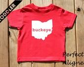 Ohio Home State BUCKEYE Unisex Toddler T-shirt - Baby Boys or Girls