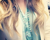 Karleigh Statement Necklace- Turquoise Opalite